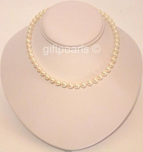 AA grade 6.5-7mm lustrous white pearls.